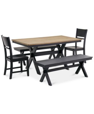 Beautiful Archer Dining Furniture, 5 Pc. Set (Dining Table, 2 Side Chairs U0026 2  Benches), Created For Macyu0027s
