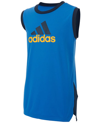 d769c677e4 adidas Logo-Print Athletic Tank Top