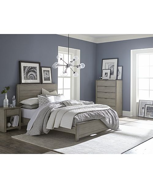 the simple classic lines of the charming tribeca grey bedroom furniture collection are subtly updated with a crisp gray finish to offer contemporary style - Grey Bedroom Set