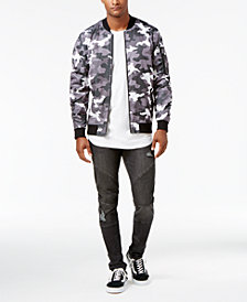 Jaywalker Men's Embroidered Bomber Jacket & Rip and Repair Jeans, Created for Macys