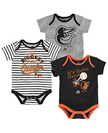 Majestic Baltimore Orioles Homerun 3-Piece Set, Baby Boys (0-9 months)