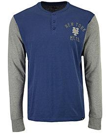 '47 Brand Men's New York Mets Downfield Henley Long-Sleeve T-Shirt