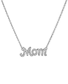 Diamond Mom Pendant Necklace (1/4 ct. t.w.) in Sterling Silver