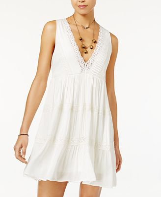 American Rag Lace-Trim Babydoll Dress, Created for Macy's