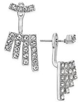 INC International Concepts Silver-Tone Multi-Crystal Earring Jackets, Created for Macy's