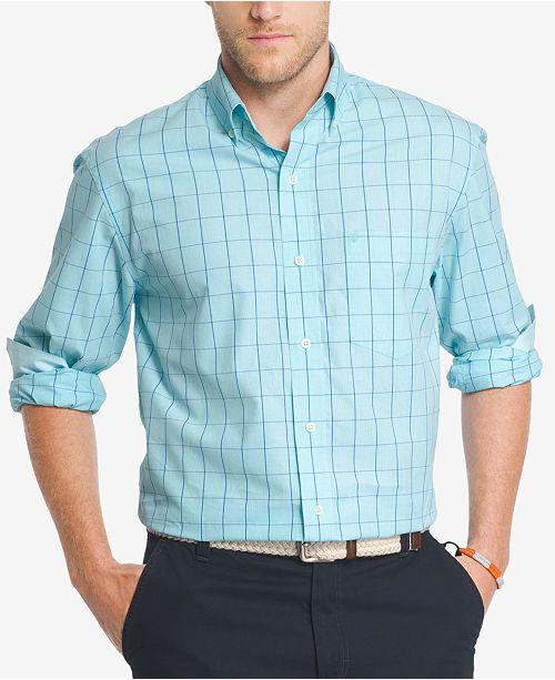 IZOD Men's Windowpane Cotton Shirt
