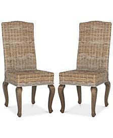 Duren Set of 2 Wicker Dining Chairs, Quick Ship