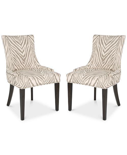 Safavieh Aneva Set of 2 Dining Chairs, Quick Ship