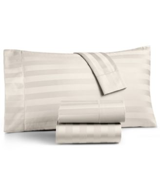 CLOSEOUT! Ivory Stripe Twin 3-Pc Sheet Set, 550 Thread Count 100% Supima Cotton, Created for Macy's