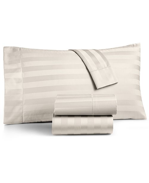 Charter Club  Ivory Stripe Extra Deep Pocket Queen 4-Pc Sheet Set, 550 Thread Count 100% Supima Cotton, Created for Macy's