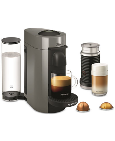 Nespresso De'Longhi Vertuo Plus Coffee and Espresso Maker with Frother