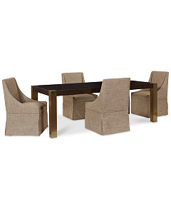 Jameson Expandable Dining Furniture, 5-Pc. Set (Dining Table & 4  Upholstered Castered Side Chairs)