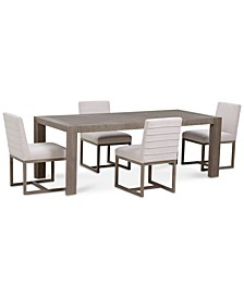 CLOSEOUT! Astor Dining 5-Pc. Set (Dining Table & 4 Side Chairs)