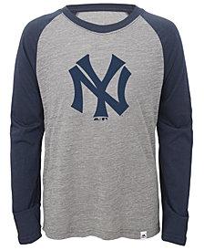 Majestic New York Yankees Margin Coop Raglan T-Shirt, Big Boys (8-20)