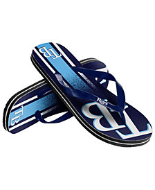 Forever Collectibles Tampa Bay Rays Gradient Big Logo Flip Flops