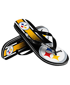 Forever Collectibles Pittsburgh Steelers Gradient Big Logo Flip Flops