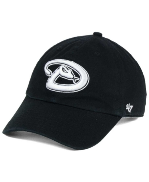 '47 Brand Arizona Diamondbacks Black White Clean Up Cap Men Activewear - Sports Fan Shop By Lids
