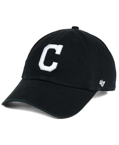'47 Brand Cleveland Indians Black White Clean Up Cap