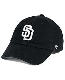 '47 Brand San Diego Padres Black White Clean Up Cap