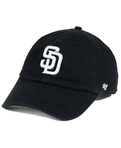 '47 Brand San Diego Padres Black White Clean Up Cap