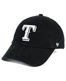 Texas Rangers Black White Clean Up Cap