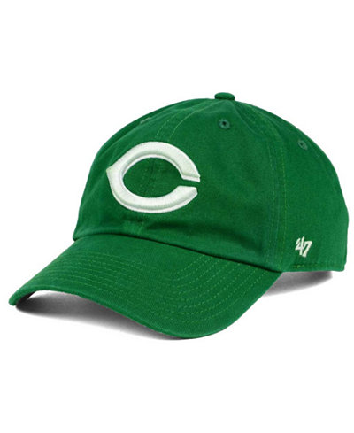 '47 Brand Cincinnati Reds Kelly/White Clean Up Cap