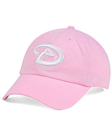 '47 Brand Women's Arizona Diamondbacks Pink/White Clean Up Cap