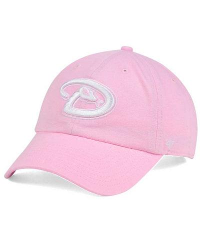 '47 Brand Women's Arizona Diamondbacks Pink/White Clean Up Cap