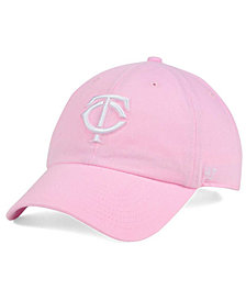 '47 Brand Women's Minnesota Twins Pink/White Clean Up Cap
