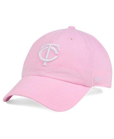 '47 Brand Women's Minnesota Twins Pink/White Clean Up Cap