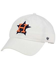 Houston Astros White Clean Up Cap