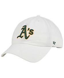 '47 Brand Oakland Athletics White Clean Up Cap