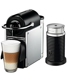 by De'Longhi Aluminum Pixie Espresso Machine with Aerocinno3