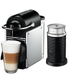 Nespresso by De'Longhi Aluminum Pixie Espresso Machine with Aerocinno3