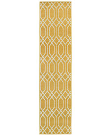 "CLOSEOUT! JHB Design  Soleil Helix Gold 1'10"" x 7'6"" Indoor/Outdoor Runner Rug"
