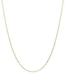 "14k Gold Necklace, 18-24"" Dot Dash Chain"