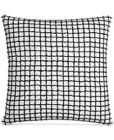 "CLOSEOUT! Hotel Collection  Linen Plaid 22"" Square Decorative Pillow, Created for Macy's"