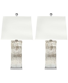 Set of 2 Rock Crystal Table Lamps