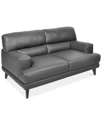 ramella leather loveseat created for macyu0027s - Black Leather Loveseat