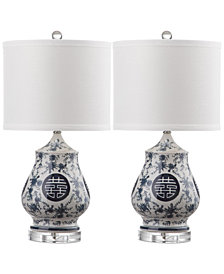 Safavieh Set of 2 Abbie Table Lamps