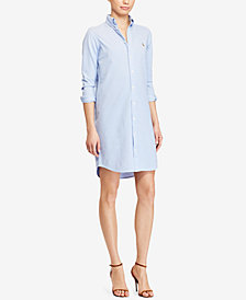 Polo Ralph Lauren Knit Oxford Cotton Shirtdress