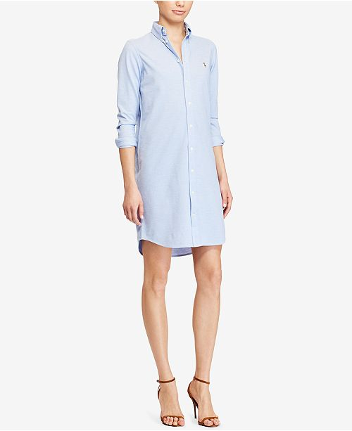 56e7ae85e15f3 Polo Ralph Lauren Knit Oxford Cotton Shirtdress   Reviews - Dresses ...
