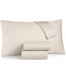 Charter Club Damask Ivory Supima Cotton 550-Thread Count Sheet Set Collection, Created for Macy's