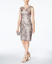 Adrianna Papell Petite Lace Sheath Dress
