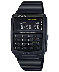 Casio Men's Digital Calculator Vintage Black Resin Bracelet Watch 35x35MM  CA506B-1AVT