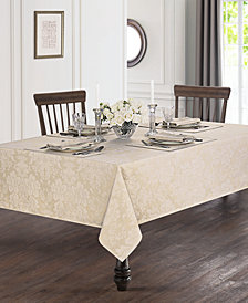 "Waterford Berrigan Gold 90"" Round Tablecloth"
