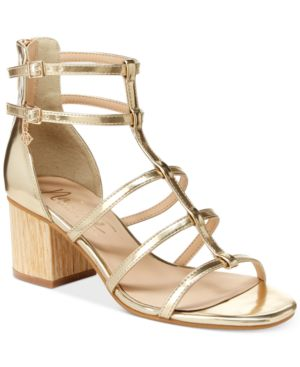 Nanette by Nanette Lepore Rebecca Strappy Block Heel Sandals Women