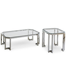 CLOSEOUT! Madison Rectangular Coffee Table Set, 2-Pc. Set (Rectangular Coffee Table & End Table)