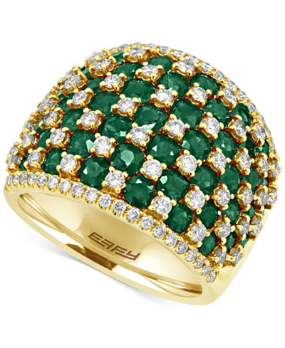 Brasilica by EFFY® Emerald (3-3/4 ct. t.w.) and Diamond (1-1/5 ct. t.w.) Ring in 14k Gold, Created for Macy's