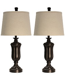 StyleCraft Set of 2 Madison Round Table Lamps